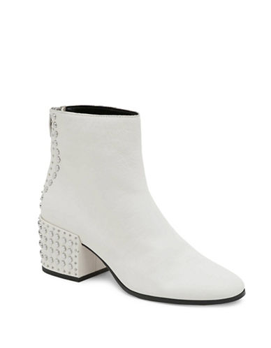 Dolce Vita Studded Leather Ankle Boots-WHITE-6.5