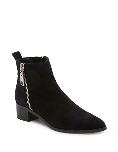 Dolce Vita Marra Side Zip Leather Booties-ONYX-8.5