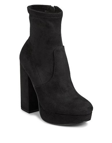 Steve Madden Sta Block Heel Booties-BLACK-9.5