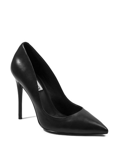 Steve Madden Daisie Leather Closed-Toe Pumps-BLACK-5.5