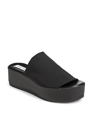 Steve Madden Open-Toe Platform Slides-BLACK-7