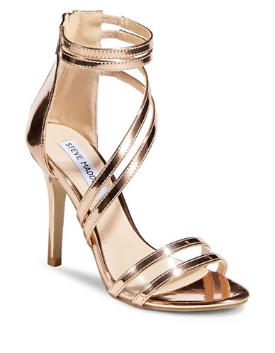 Steve Madden Special Dress Sandals-GOLD-EUR 40/US 10