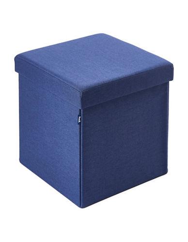 Kvell Kube Storage Ottoman-LOYAL BLUE-One Size