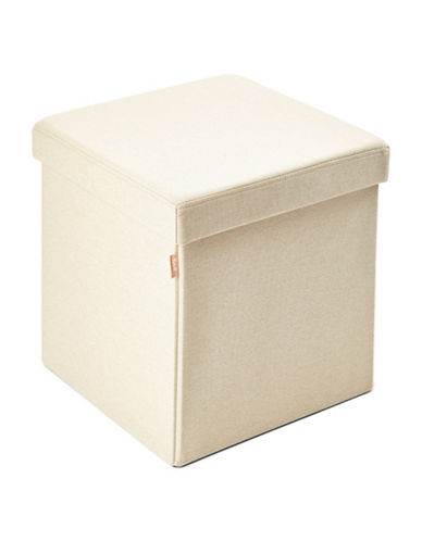 Kvell Kube Storage Ottoman-CREAM-One Size