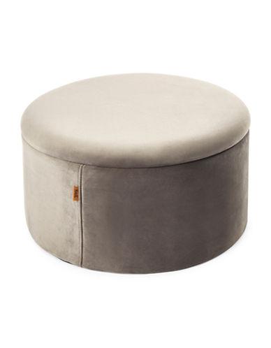 Kvell Boto Short Storage Ottoman-GREY-One Size