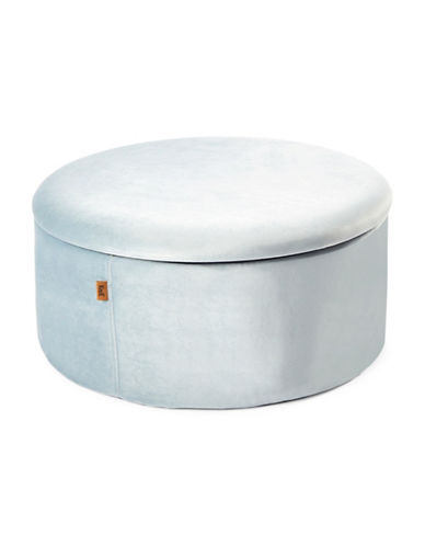 Kvell Boto Short Storage Ottoman-HONEST BLUE-One Size