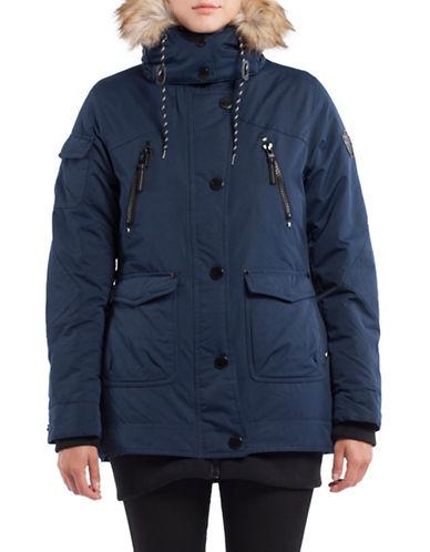 Noize Borge Faux Fur Mid-Length Jacket-BLUE-X-Large 88714825_BLUE_X-Large