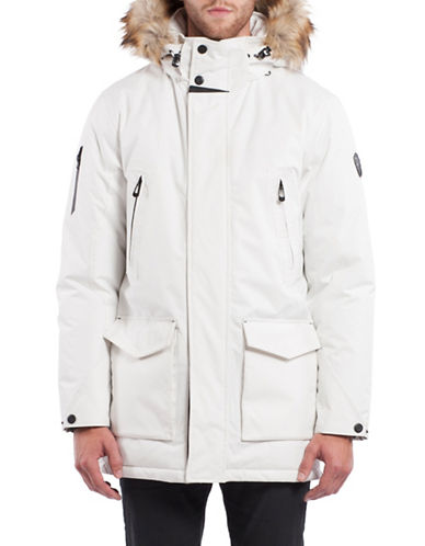 Noize Dax Faux Fur Trimmed Insulated Jacket-WHITE-X-Large