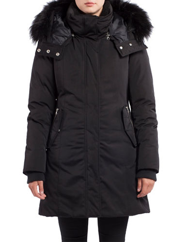 Noize Krista Faux Fur Insulated Jacket-BLACK-X-Large