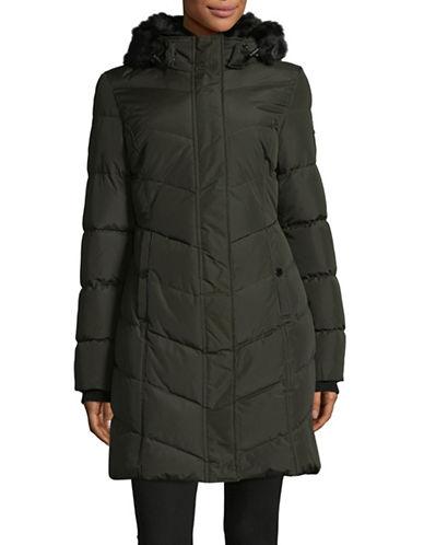 Noize Faux Fur-Trimmed Larisa Jacket-GREEN-Medium 89561402_GREEN_Medium