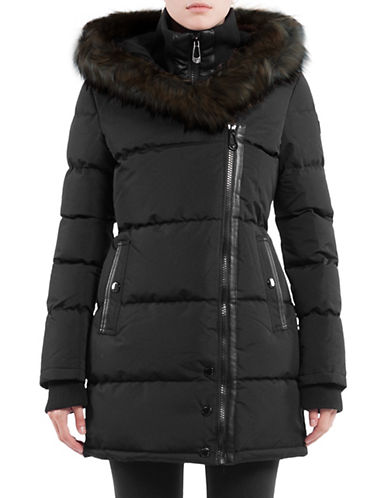 Noize Anastasia Faux Fur-Trimmed Jacket-BLACK-Medium