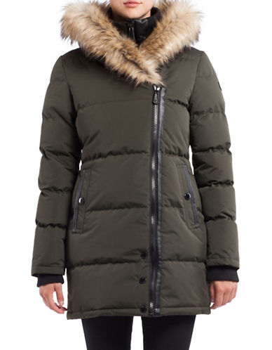 Noize Anastacia Faux Fur Long Jacket-GREEN-Small 88714846_GREEN_Small