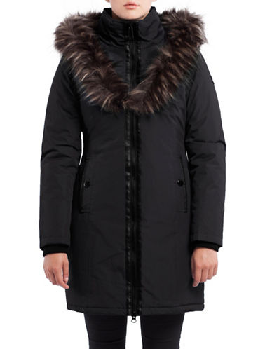 Noize Donna Faux Fur Long Jacket-BLACK-Medium 88714931_BLACK_Medium