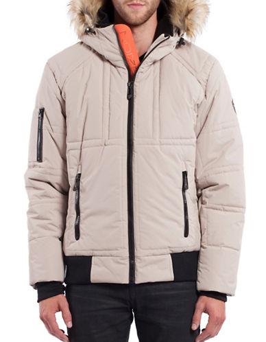 Noize Caleb Faux Fur Short Jacket-BEIGE-Small 88699965_BEIGE_Small
