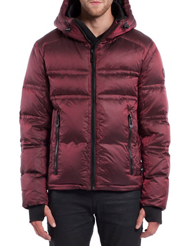 Noize Farber Short Down Jacket-BURGUNDY-Small