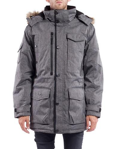 Noize Faux-Fur Trim Parka Jacket-BLACK-X-Large 88699893_BLACK_X-Large