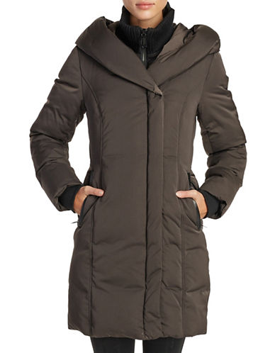 Noize Fleece Puffer Coat-GREY-Large