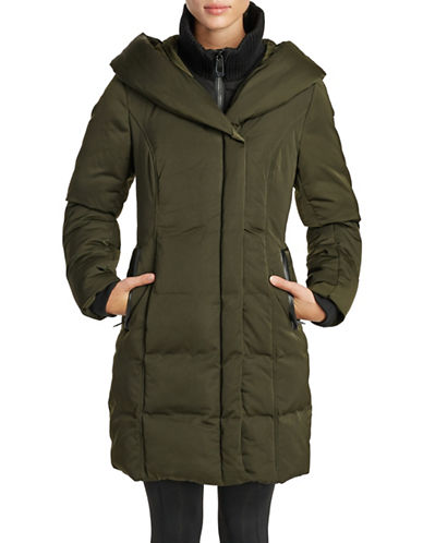 Noize Fleece Puffer Coat-GREEN-Large