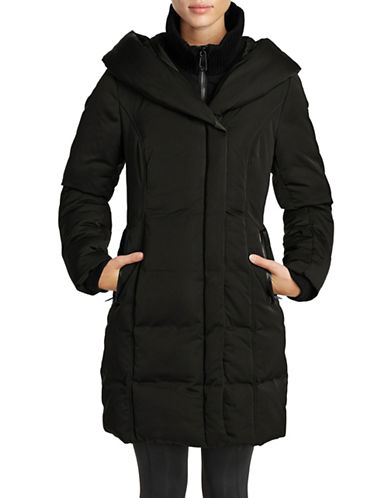 Noize Fleece Puffer Coat-BLACK-Large