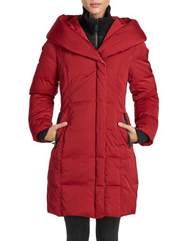 Noize Fleece Puffer Coat-RED-Medium