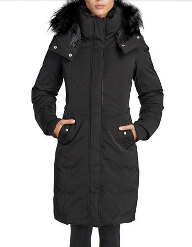 Noize Faux Fur Trim Puffer Coat-BLACK-Medium 89793240_BLACK_Medium