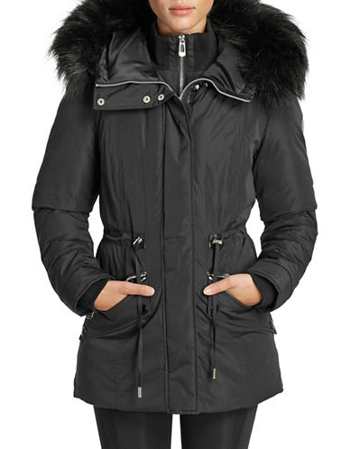 Noize Faux Fur Trim Puffer Jacket-BLACK-Medium 89796299_BLACK_Medium