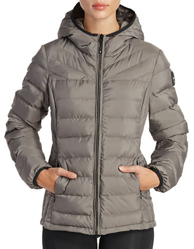 Noize Lightweight Quilted Jacket-GREY-Small