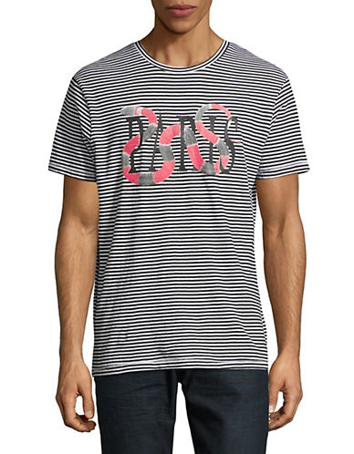 Eleven Paris Striped Graphic T-Shirt-BLACK/WHITE-Small 89992825_BLACK/WHITE_Small