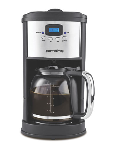 Gourmet Living 12-Cup Programmable Coffee Maker-BLACK-One Size