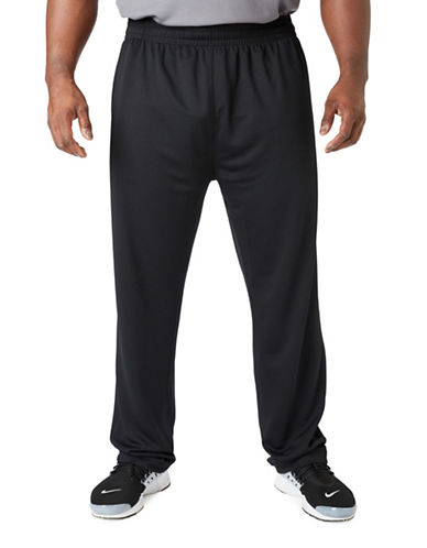 Paul Gray Big and Tall Athleisure Pants-BLACK-5XB