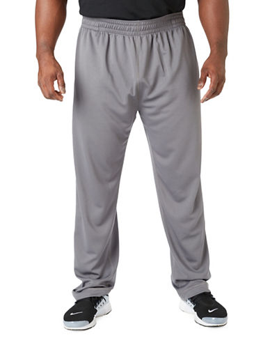 Paul Gray Big and Tall Athleisure Pants-GREY-1X Big