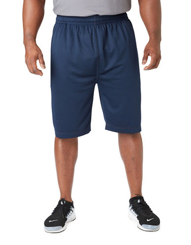 Paul Gray Big and Tall Athleisure Shorts-BLUE-1X Big