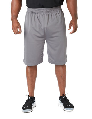 Paul Gray Big and Tall Athleisure Shorts-GREY-3XB