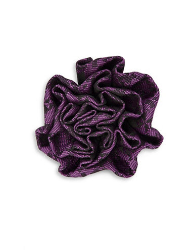 1670 Plaid Flower Pin-PURPLE-One Size