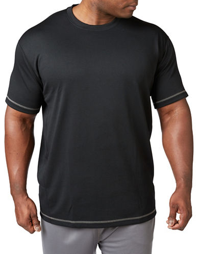 Paul Gray Big and Tall Athleisure Tee-BLACK-4T