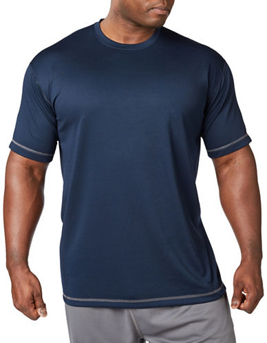 Paul Gray Big and Tall Athleisure Tee-BLUE-1X Big