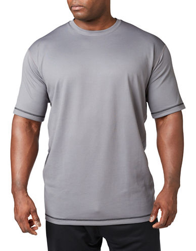 Paul Gray Big and Tall Athleisure Tee-GREY-6X