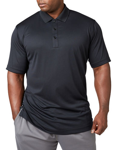 Paul Gray Big and Tall Short Sleeve Performance Golf Polo-BLACK-1X Tall