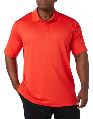 Paul Gray Big and Tall Short Sleeve Performance Golf Polo-RED-1X Tall