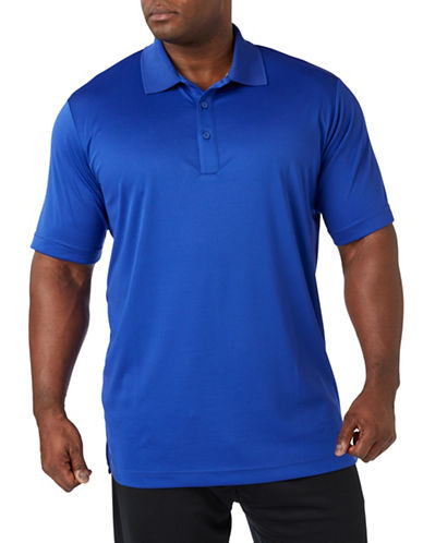 Paul Gray Big and Tall Short Sleeve Performance Golf Polo-BLUE-3T