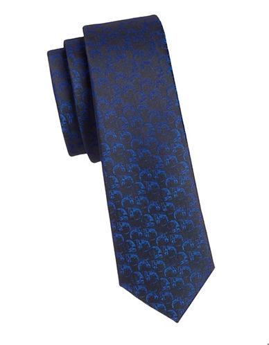 1670 Slim Skull Tie-BLUE-One Size