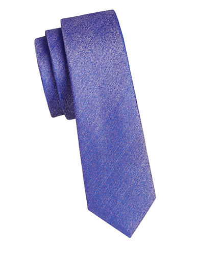 1670 Slim Textured Two-Tone Tie-LAVENDER-One Size