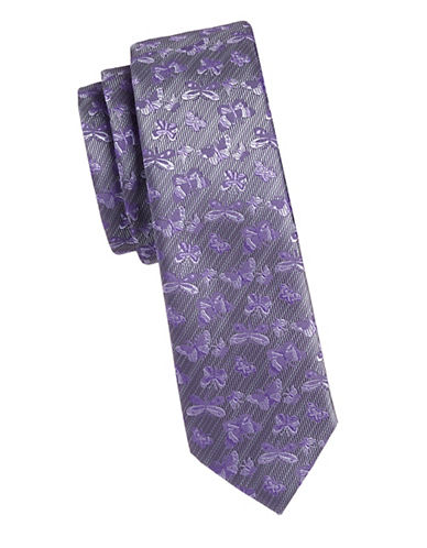 1670 Slim Butterfly Tie-LAVENDER-One Size