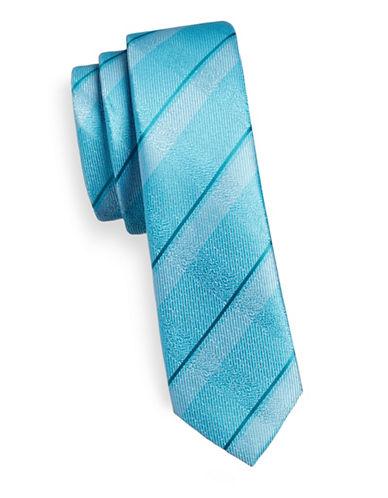 1670 Slim Ribbed Stripe Tie-TEAL-One Size