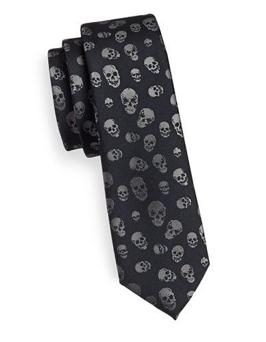 1670 Slim Skull Tie-GREY-One Size