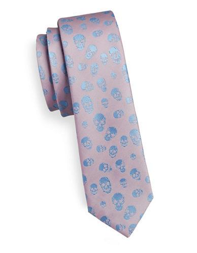 1670 Slim Skull Tie-PINK-One Size