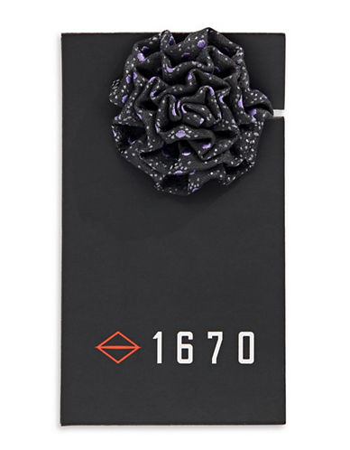 1670 Dotted Flower Lapel Pin-LAVENDER-One Size