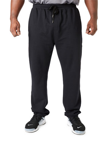 Paul Gray Big and Tall Athleisure Sweatpants-BLACK-2XB