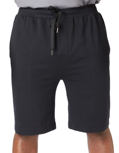 Paul Gray Big and Tall Athleisure Sweat Shorts-BLACK-1X Big