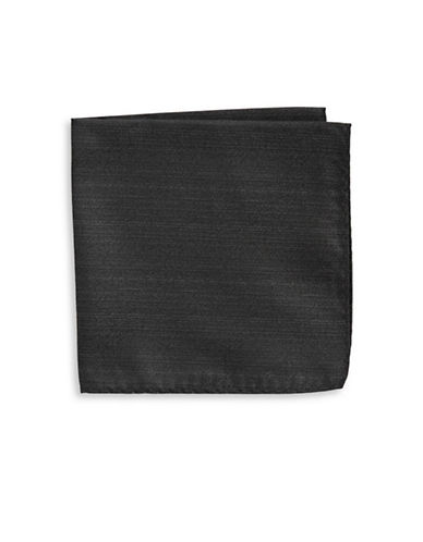 1670 Woven Texture Pocket Square-BLACK-One Size